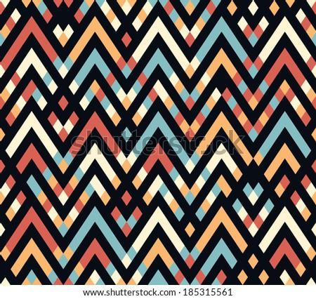 Seamless vector chevron geometric pattern background - stock vector