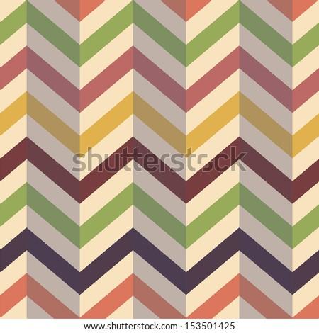 seamless Vector Chevron Zigzag Background  - stock vector