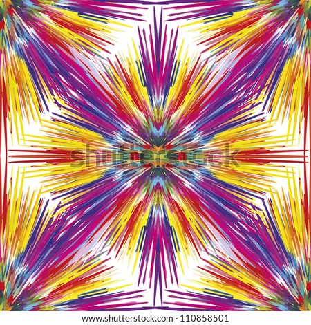 Seamless vector color explosion as symbol for creativity and spontaneity - stock vector