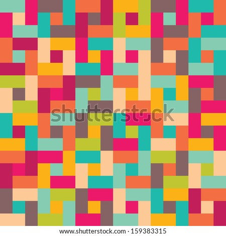 Seamless vector color geometric pattern modern texture - stock vector