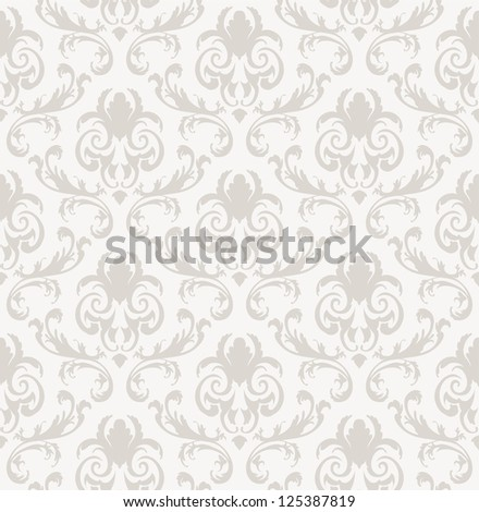 Seamless vector damask pattern. For easy making seamless pattern just drag all group into swatches bar, and use it for filling any contours. - stock vector