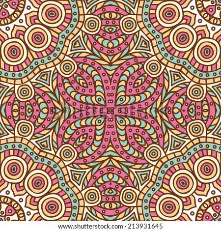Vintage decorative elements hand drawn background islam arabic