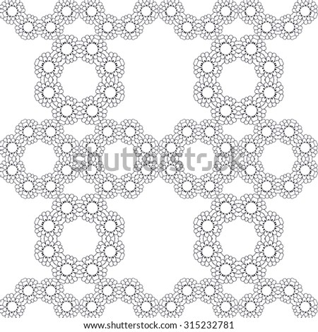 Seamless vector floral pattern, pattern can be used for wallpaper, pattern fills, surface textures . Black and white - stock vector