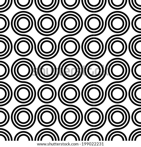 Seamless vector geometric ,Circle pattern background  - stock vector