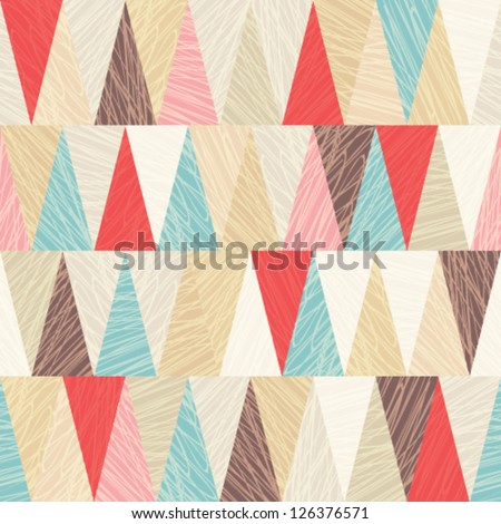 Seamless vector geometric pattern - stock vector