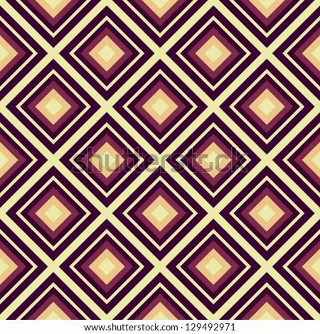 Seamless vector geometric rhombus color pattern - stock vector
