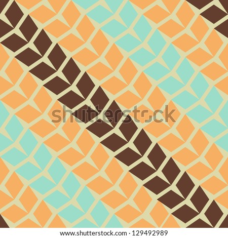 Seamless vector geometric rhombus pattern - stock vector