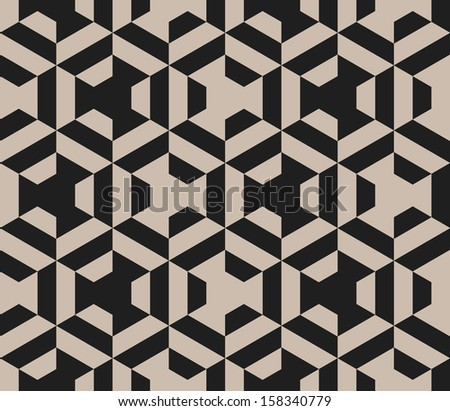 Seamless vector geometric strip pattern background - stock vector