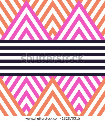 Seamless vector geometric striped vector pattern background - stock vector