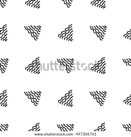 Seamless vector hand drawn triangle background. Doodle abstract monochrome design.