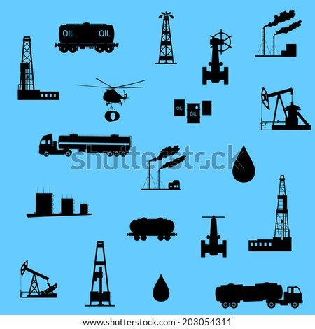 Seamless vector illustration the oil and petroleum icon. - stock vector