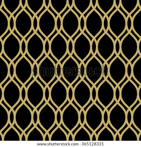 Seamless vector ornament. Modern geometric pattern with repeating elements - stock vector