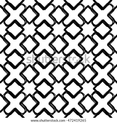 Seamless vector pattern. Abstract geometric background. Linear grid structure. Rectangular lattice with rounded angles.