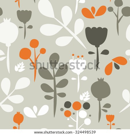 Seamless vector pattern background with flowers - stock vector