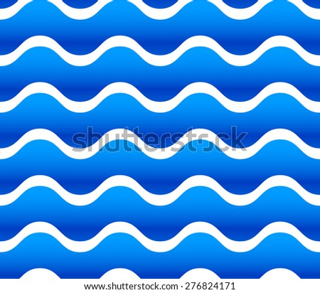 Seamless vector pattern / background with waving, wavy shapes. - stock vector