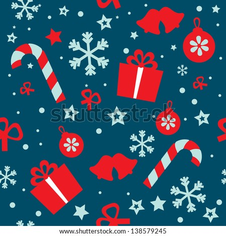 Seamless vector pattern Christmas - stock vector