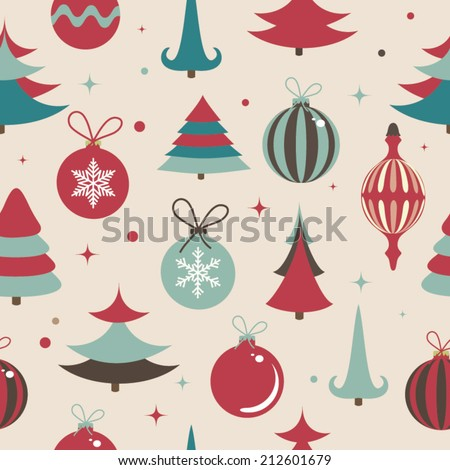 Seamless vector pattern Christmas. Vector illustration - stock vector