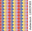 Seamless vector pattern - colorful rows of rhombuses. - stock photo
