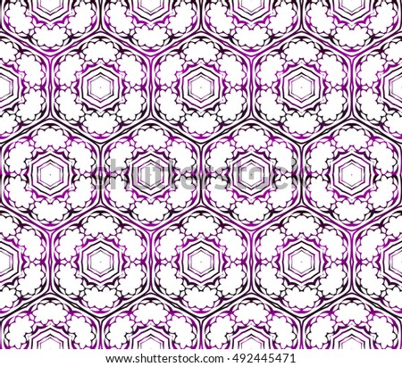 seamless vector pattern. floral design. purple gradient color. interior decoration, wallpaper, presentation, fashion design