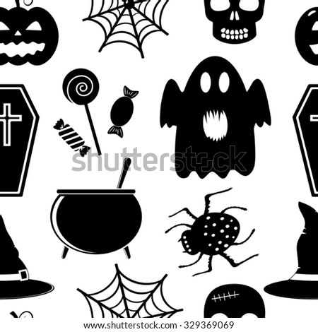 Seamless vector pattern for Halloween - stock vector