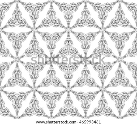 seamless vector pattern. imitation pencil drawing in the form of engraving. floral ornament. interior decoration, wallpaper, presentation, fashion design