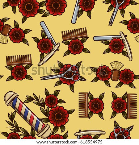 Barber Pattern Stock Images Royalty Free Images Amp Vectors