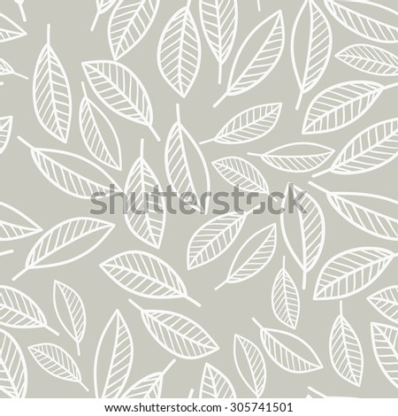 seamless vector pattern. leaves. For craft, textile and decoration works