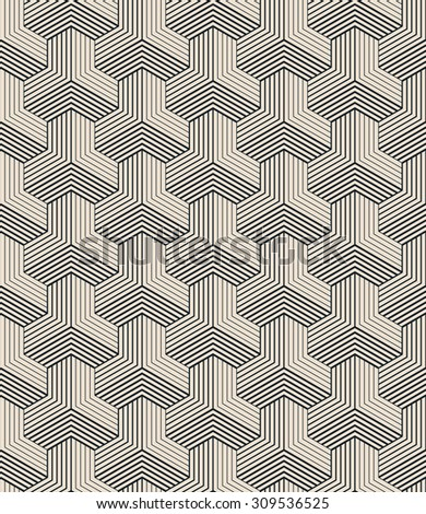seamless vector pattern of striped isometric blocks.