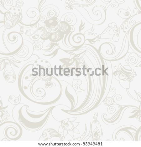 Seamless vector pattern,  Wallpaper,  Vector Background - stock vector