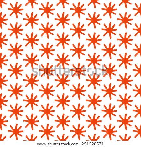 Seamless vector pattern watercolor sun  - stock vector