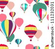 Seamless vector pattern with bright balloons - stock vector