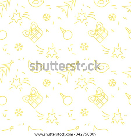 Seamless vector pattern with christmas elements. Christmas repeating background. Christmas elements pattern for wrapping paper. Scrapbooking christmas pattern. Vector christmas pattern. - stock vector