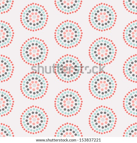 Seamless vector pattern with concentric circles - stock vector