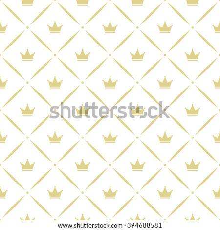 Seamless vector pattern with crowns