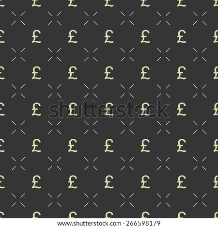 Seamless vector pattern with pound sterling currency, can be used as tiling, web pattern or for just finance related design.