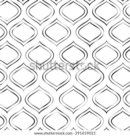 Seamless vector pattern with simple geometric shapes - stock vector