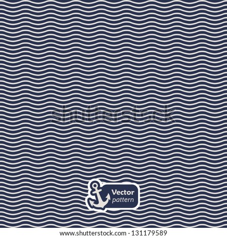 Seamless vector pattern with waves. - stock vector