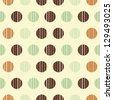 Seamless vector polka dot pattern background retro texture - stock vector