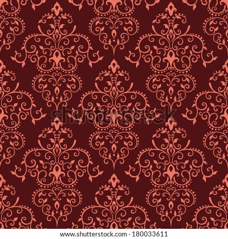 Seamless vector red vintage pattern