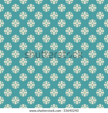 Seamless vector retro pattern with cross dots. - stock vector