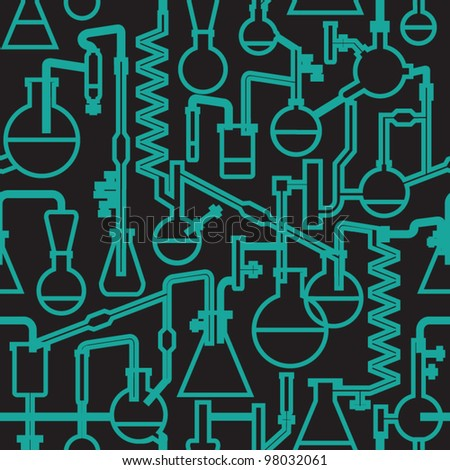 seamless vector science lab pattern - stock vector