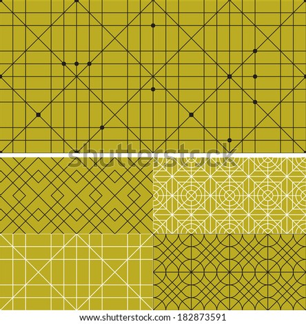 Seamless vector set patterns background - stock vector