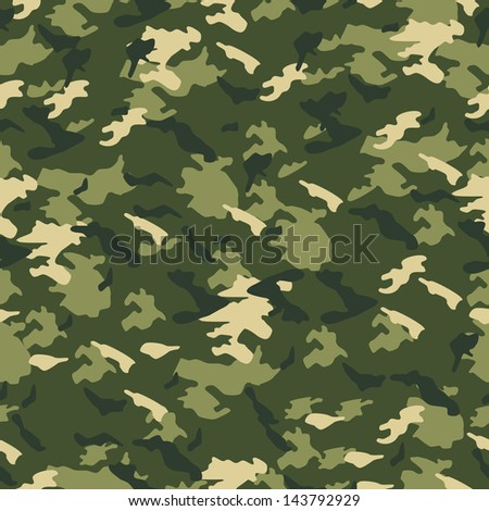 Seamless vector square camouflage series in scheme - Green - stock vector