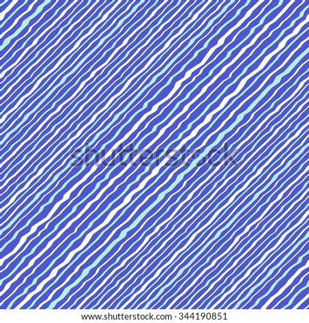 Seamless vector strip pattern. Diagonal lines with  zigzag effect - stock vector