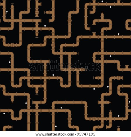 Seamless vector texture - the old water pipe - stock vector