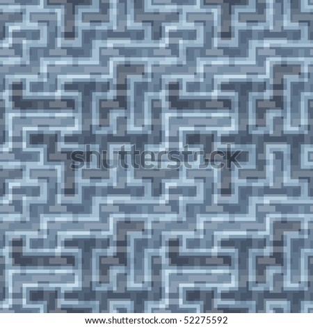 Seamless vector texture with blue tiles