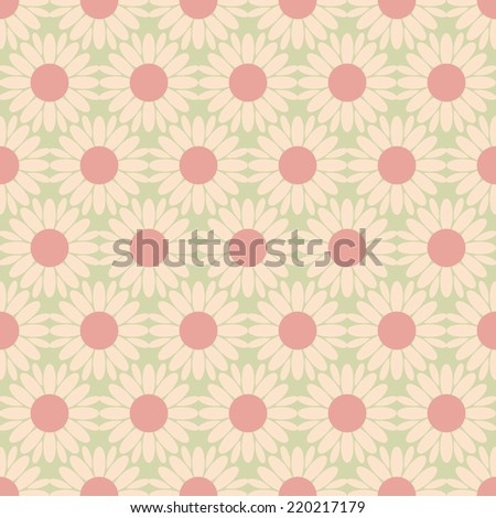 Seamless vector texture with floral elements - stock vector