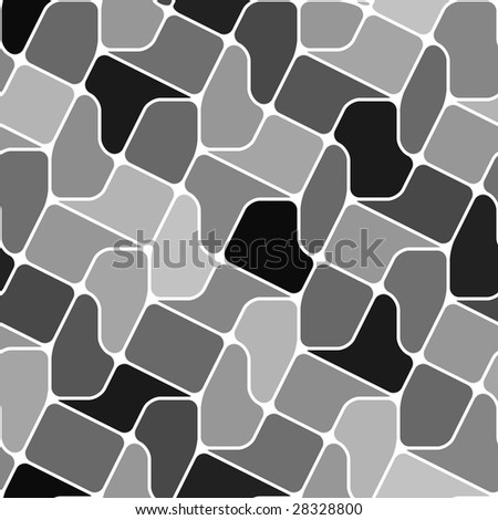 Seamless vector texture with grey tiles - stock vector