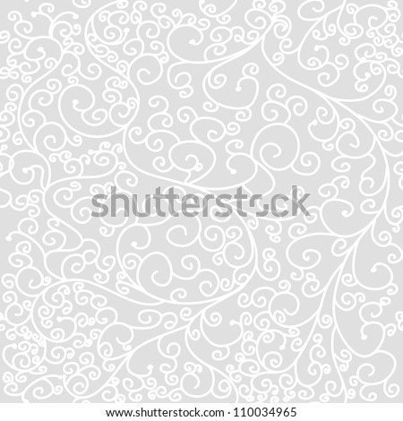 Seamless vector texture with swirl pattern - stock vector