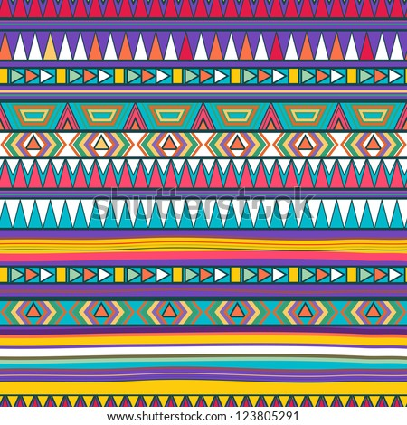 Seamless vector texture with tribal pattern - stock vector